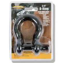 3-4 inch D-Ring Shackle Black Finish 13047B