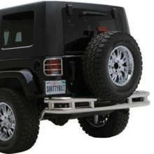 Smittybilt 3 Inch Rear Double Tube Bumper without Hitch in Stainless Steel Fits 07-17 (S/BJB48-RS)