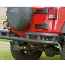Smittybilt Rear Bumper with Hitch in Textured Black Fits 07-17 (S/BJB48-RHT)